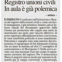 Registro delle Unioni Civili - gennaio 2014
